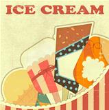 Ice Cream Retro color card