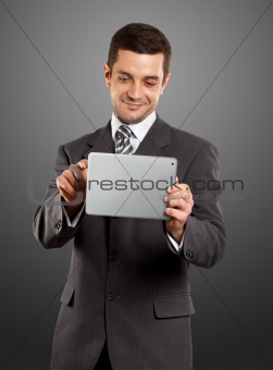 Businessman With I Pad