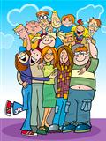 cartoon teenagers group