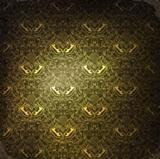 Vintage golden ornamented background, raster version