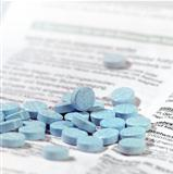 blue pills on package insert