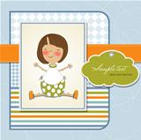 little girl announcement card