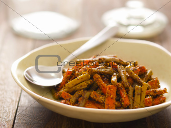 indian carrot and bean pickle