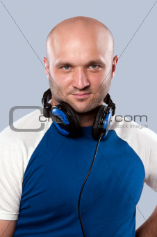 man with earphones