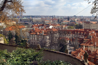 view of the roof of the old Prague