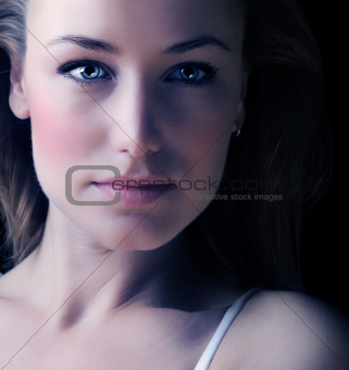 Glamor woman face portrait