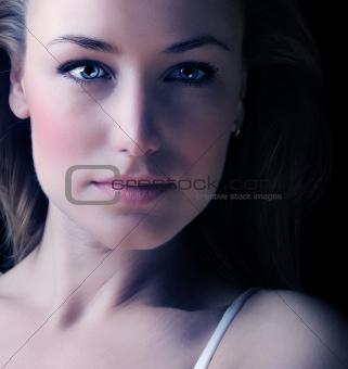 Glamor woman face portrait