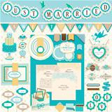 Wedding`s Day scrapbook elements