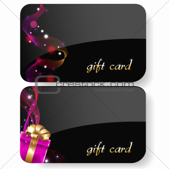 Black Gift Card Set