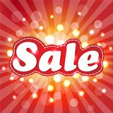 Red Sale Poster With Sunburst