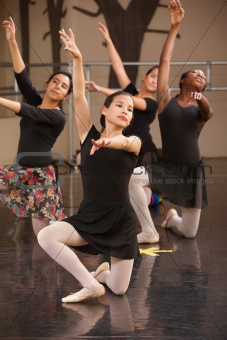 Ballet Group Kneeling