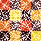 Seamless checked pattern in warm colors.