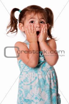 Surprised toddler girl
