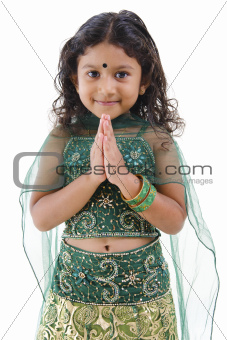 Indian girl greeting