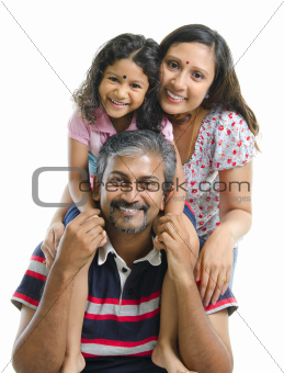 Happy Asian Indian family
