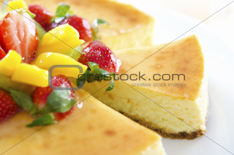 Passion fruit cheese cake