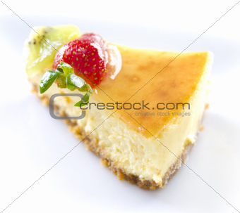 Passion fruit cheese cake slice