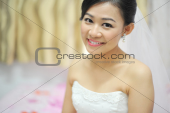 Asian bride portrait