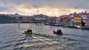 Panorama of Duoro River, Porto