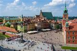 Aerial view of the Warsaw's old town