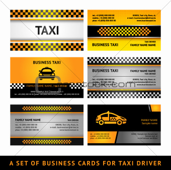 Business card taxi - fourth set