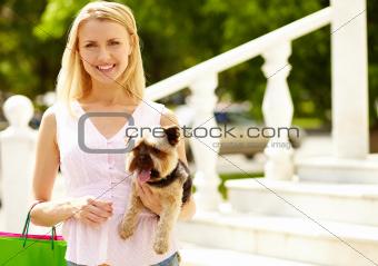 Girl with pet