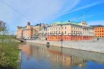 Stockholm. Norrstrom Quay