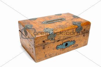 wooden moneybox