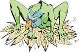 Green griffin monster
