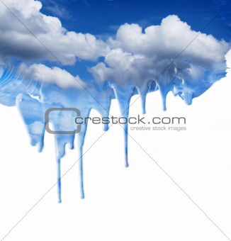 Dripping blue sky fantasy