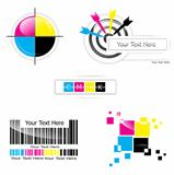 CMYK design set