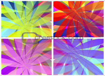 background rainbow flowers