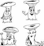 Mushroom cartoons