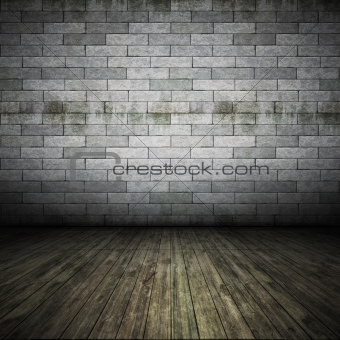 brick wall floor