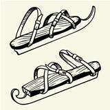 Antique ice skates