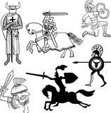 Set of warriors