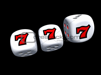 dice with slot seven