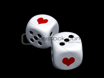 dice with heart