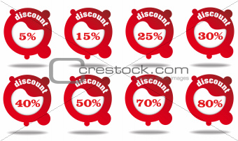 Discount icon/labels collection