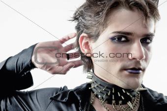 goth-style man