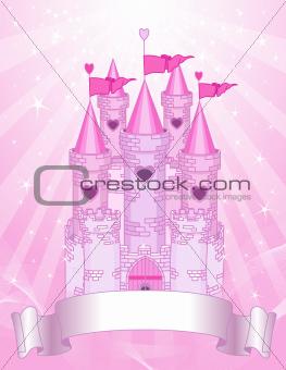 Pink Castle place card