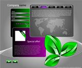 web site template with ecology motive