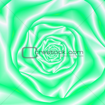 Green and White Rose Spiral