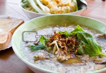 Gruel rice soup1