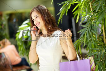 Phoning from mall