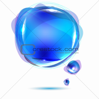 Abstract Blue Speech Bubble