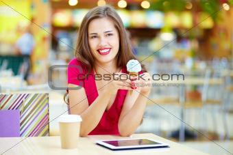 Modern tech and ice-cream