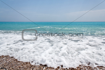 Beach at the mediterranean sea