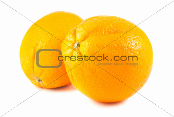 Pair of ripe grapefruits