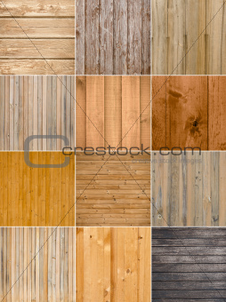 Set of 12 wood background